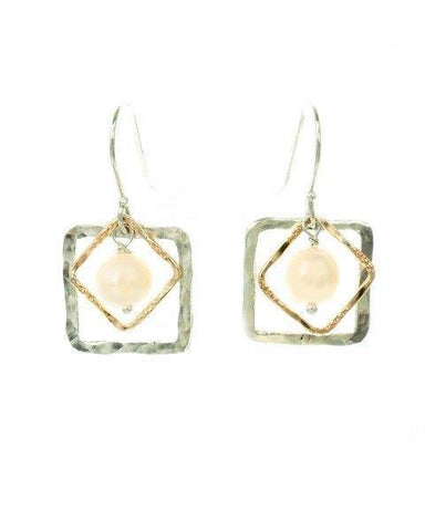 Sterling Silver, Gold Filled, Pearl Earrings