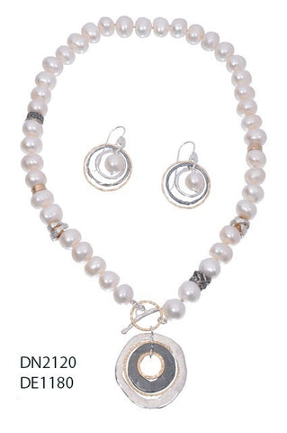 Sterling Silver, Gold Filled, Pearl Necklace