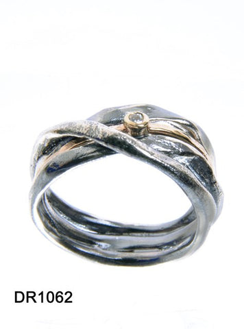 Sterling Silver, Gold Filled, 9K Gold, Zircon Ring
