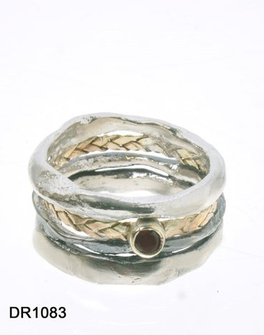 Sterling Silver, Gold Filled, Gold 9K, Garnet Ring