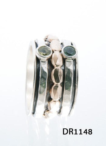 Sterling Silver,Gold Filled, Pridot, Tourmaline Ring