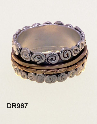 Sterling Silver, Gold Filled Ring