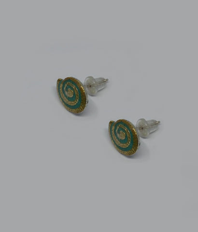 Sterling Silver, Gold Plating, Resin Earrings