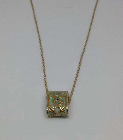 Sterling Silver, Gold Filled, 14K Gold Plating, Resin Necklace