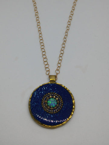 Sterling Silver, Brass, Gold Filled, Opal, Resin Necklace