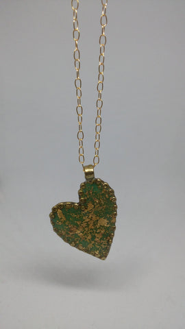 Gold Filled, Opal, Gold Leaves, Resin Necklace