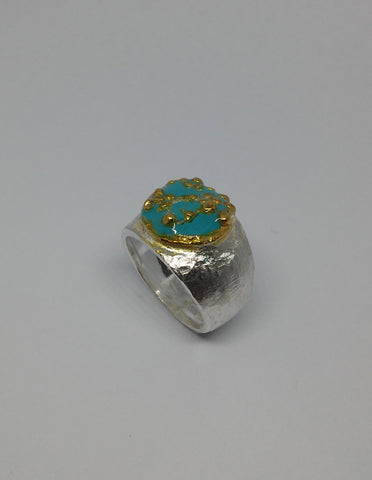 Sterling Silver, Gold Plating Ring