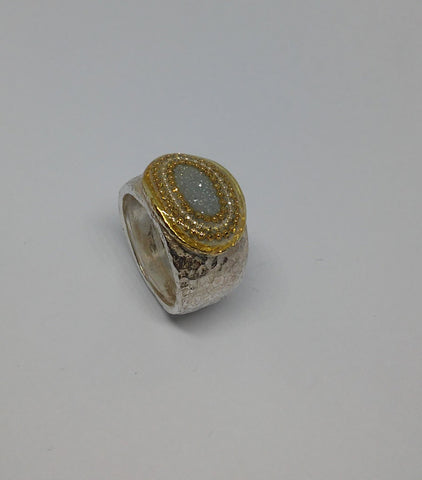 Sterling Silver, Gold Plating, Resin, Ring