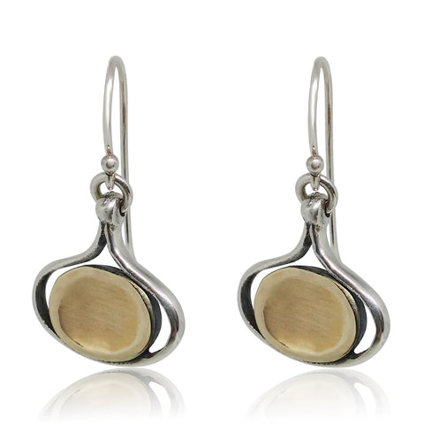 Sterling Silver, Yellow Gold Earrings