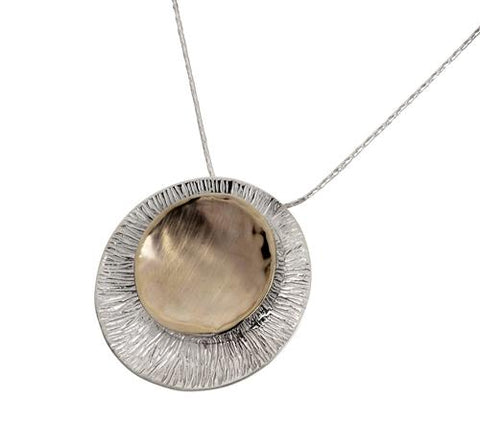 Sterling Silver, 9K Gold  Necklace