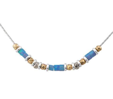 Sterling Silver, Gold Filled, Opal Necklace