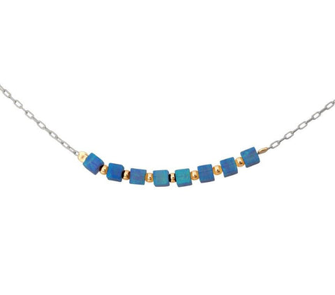 Sterling Silver, Opal Necklace