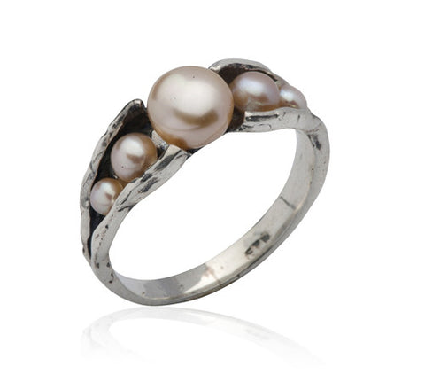 Sterling Silver, Pearl Ring