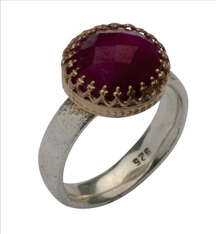 Sterling Silver, Gold Filled, Ruby Ring