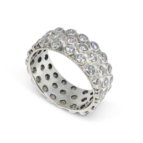 Sterling Silver, Cubic Zirconia Ring