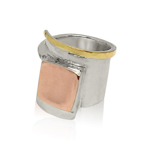 Sterling Silver, 9K Gold (Mix) Ring