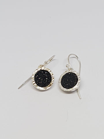 Sterling Silver, Druzy Earrings