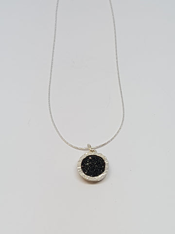 Sterling Silver, Druzy Necklace