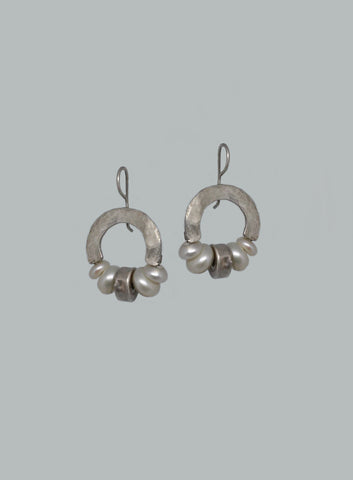 Sterling Silver, Pearl Earrings