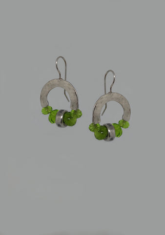 Sterling Silver, Peridot Earrings