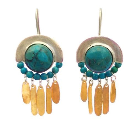 Sterling Silver, Gold Filled, Turquoise Earrings