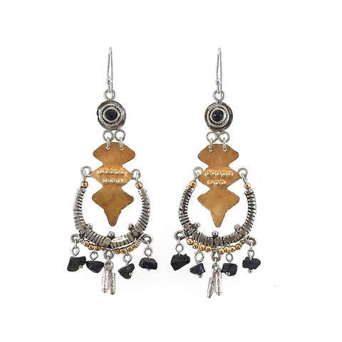 Sterling Silver, Gold Filled, Onyx Earrings