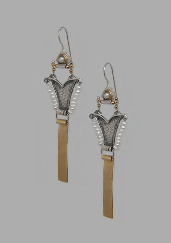 Sterling Silver, Pearl, Gold Filled Earrings