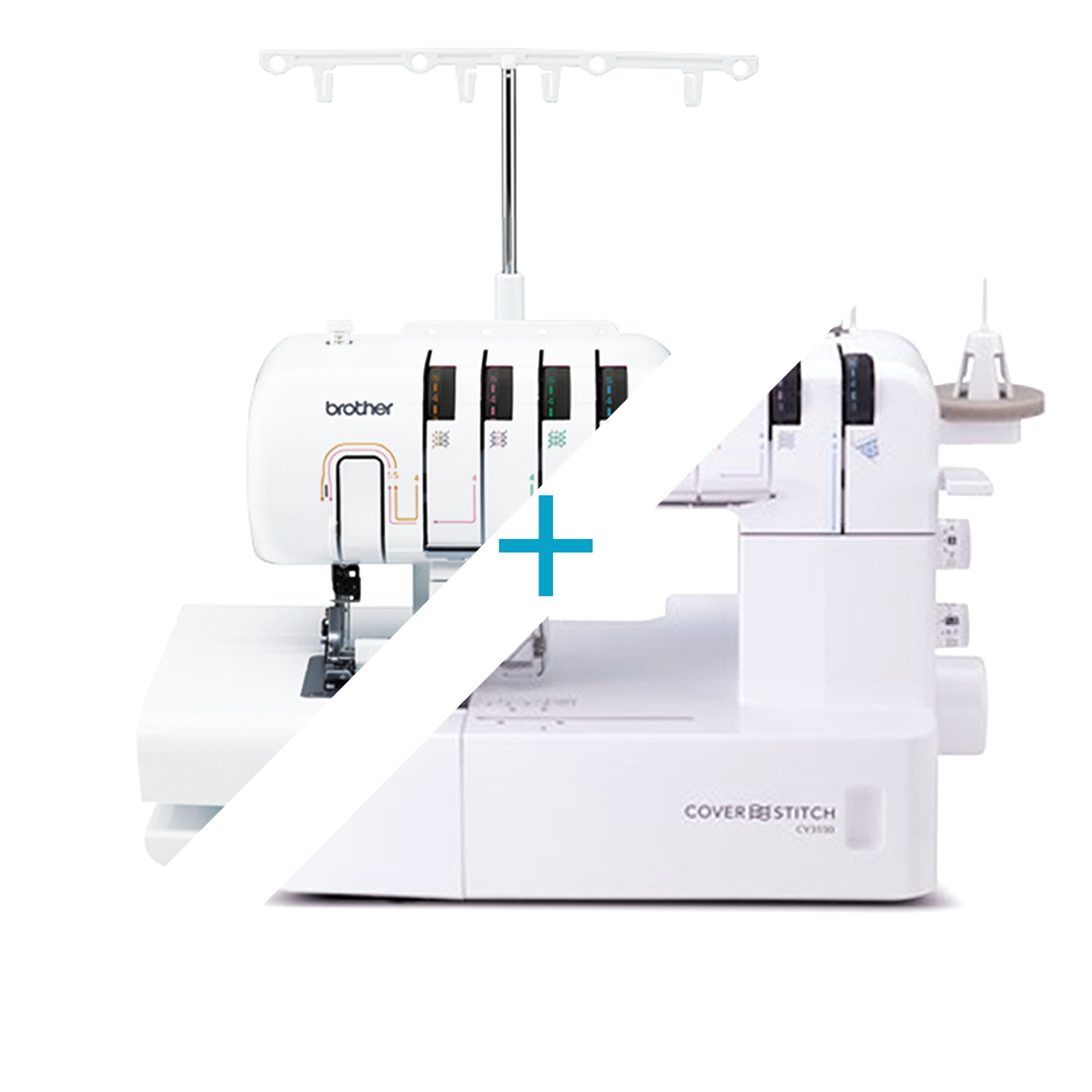 Brother CV3550 Coverstitch + 2504D Overlocker Combo