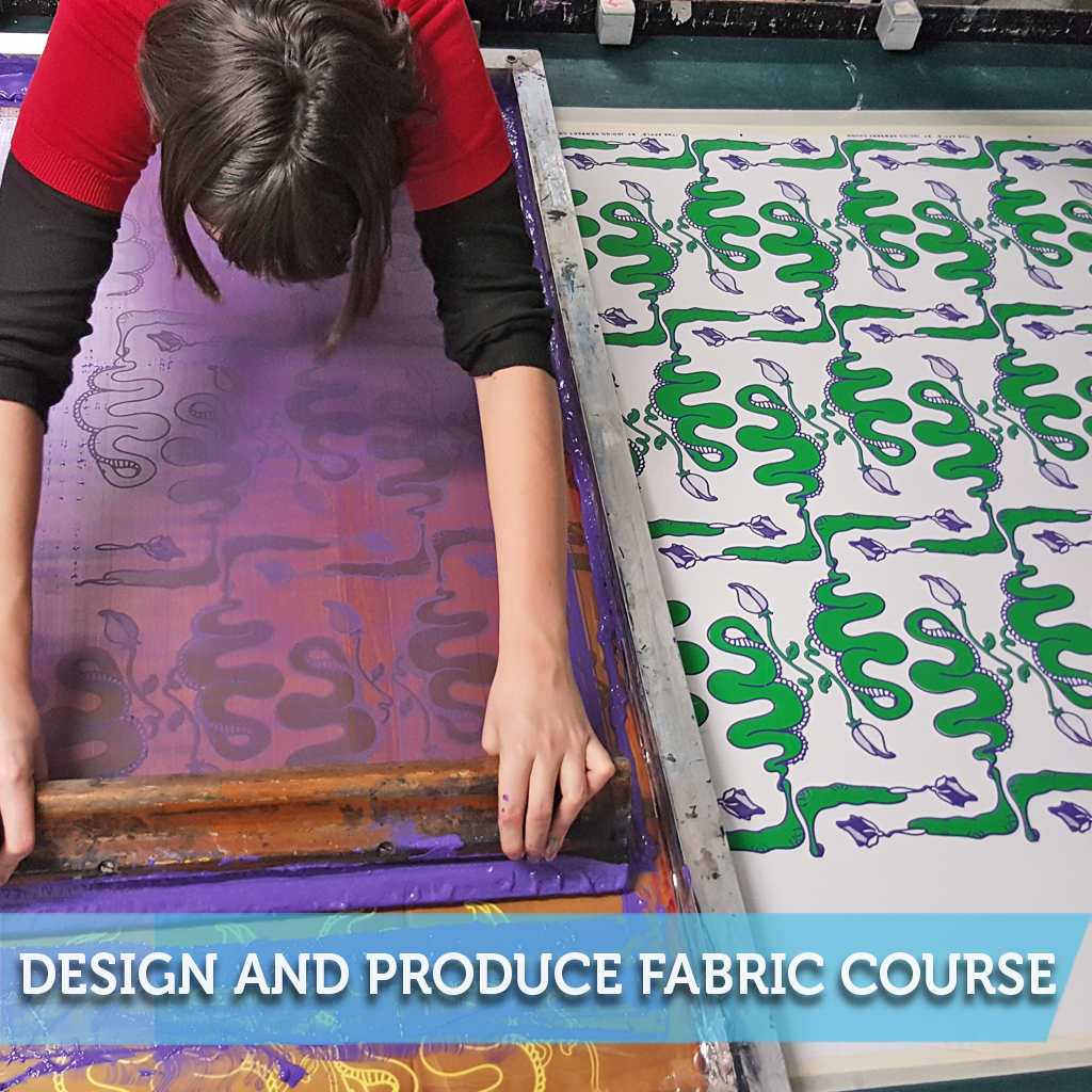 Design and Produce Fabric Screen Printing Course – Bobbin