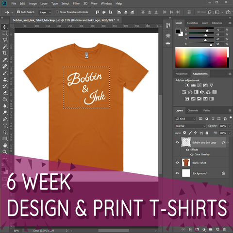 Design and Screen Print T-Shirts: 6 Week Beginners Course