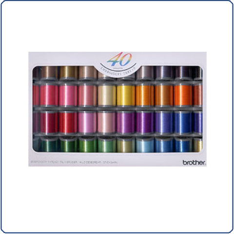 Brother Embroidery 40 Thread Packs