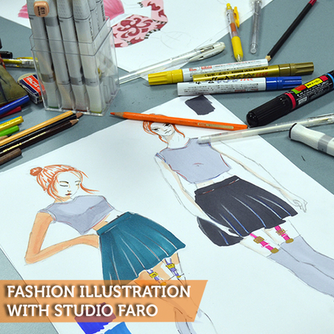 1 Day Fashion Illustration Workshop with Studio Faro