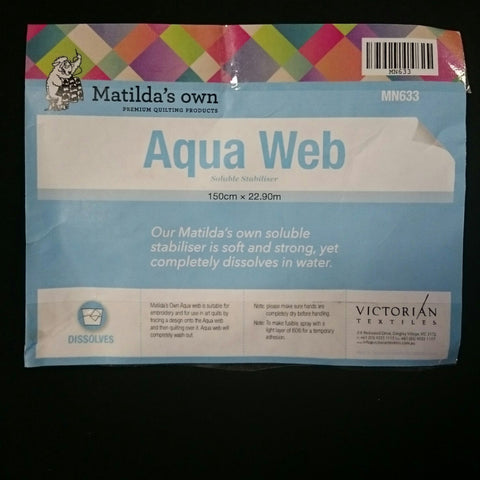 Matilda's Own Aqua Web Soluble Stabiliser 150cm Wide