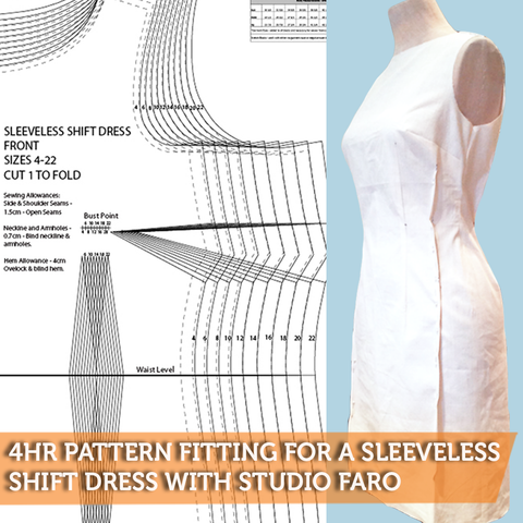 Pattern Fitting for a Sleeveless Shift Dress with Studio Faro
