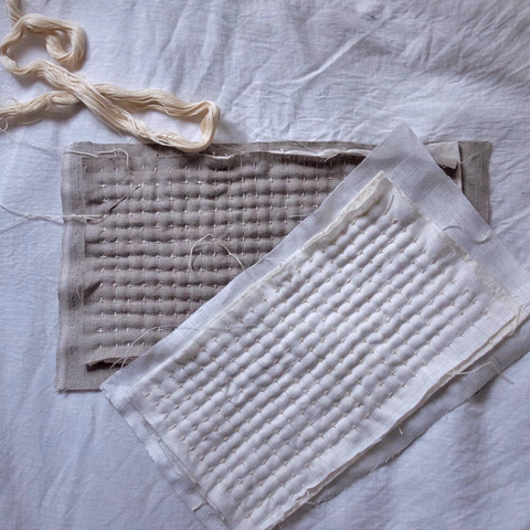 Quilted Coin Pocket: An Introduction to Sashiko and Structural Stitching with Working Cloth