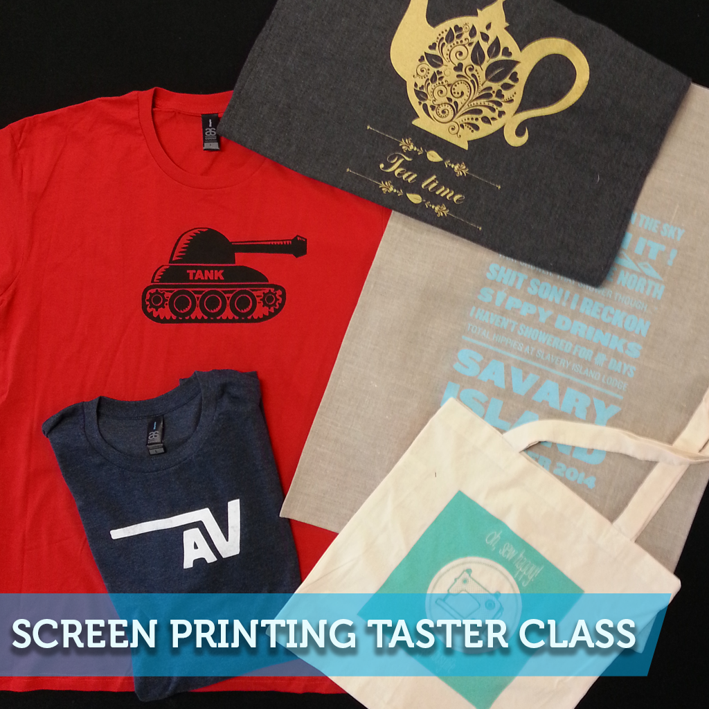 7370b814a Screen Printing Taster 2 Hour Class – Bobbin and Ink