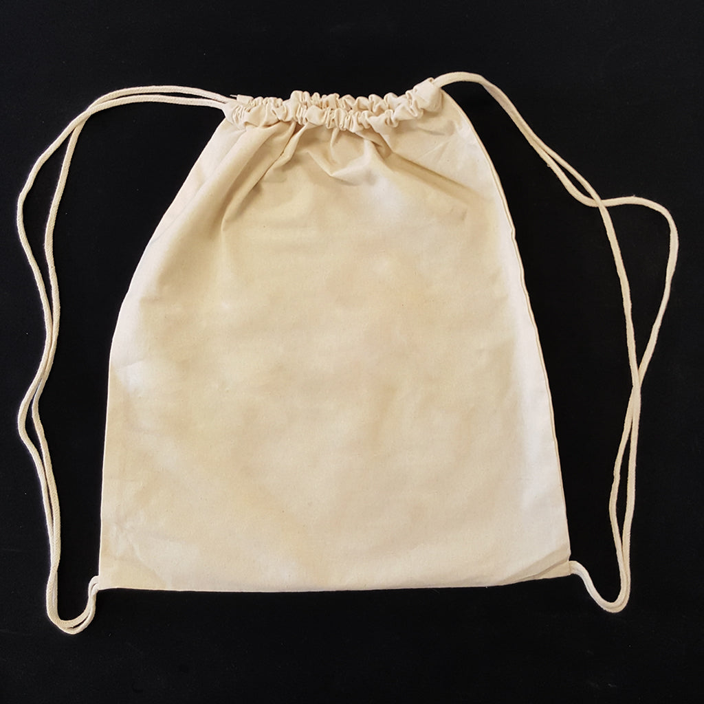 100% Cotton Blank Drawstring Bag