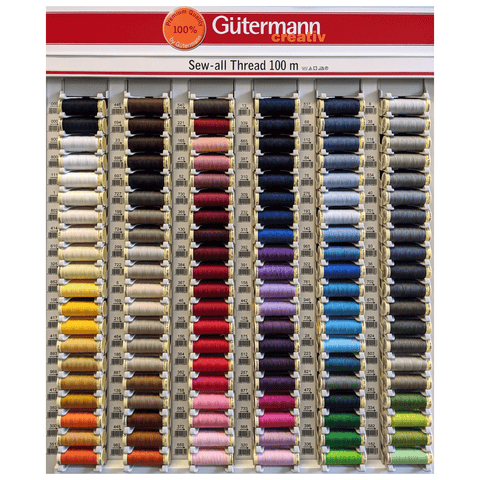 Gutermann Sew-All Thread Polyester 100m (Colours 000 to 800)