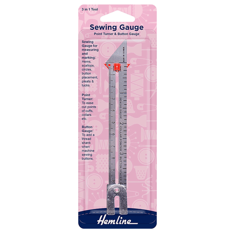Hemline Sewing Gauge, Point Turner & Button Gauge
