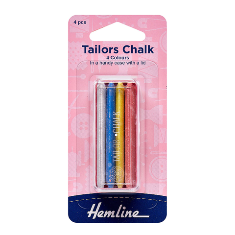 Hemline Tailors Chalk 4 Colours Tub