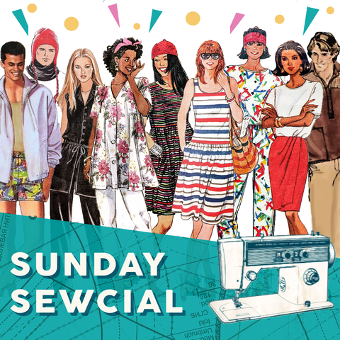 SUNDAY SEWCIAL: Drop-In Monthly Sewing Meet, 12pm to 4pm