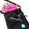 Eco-friendly wet/dry bag with detachable back pocket great for damp clothes and swimsuits