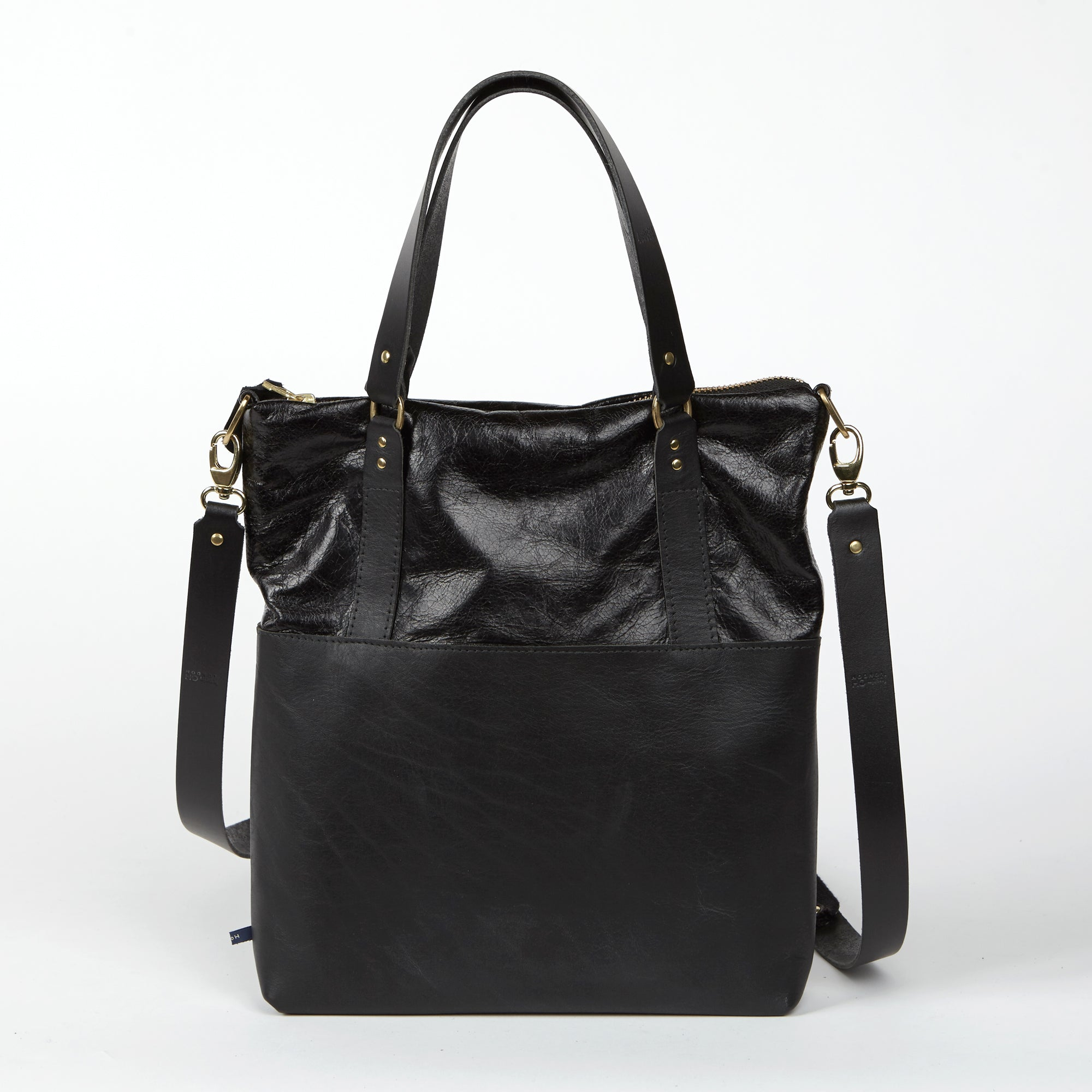 ANYA  <br/> Distressed Leather <br/> Black