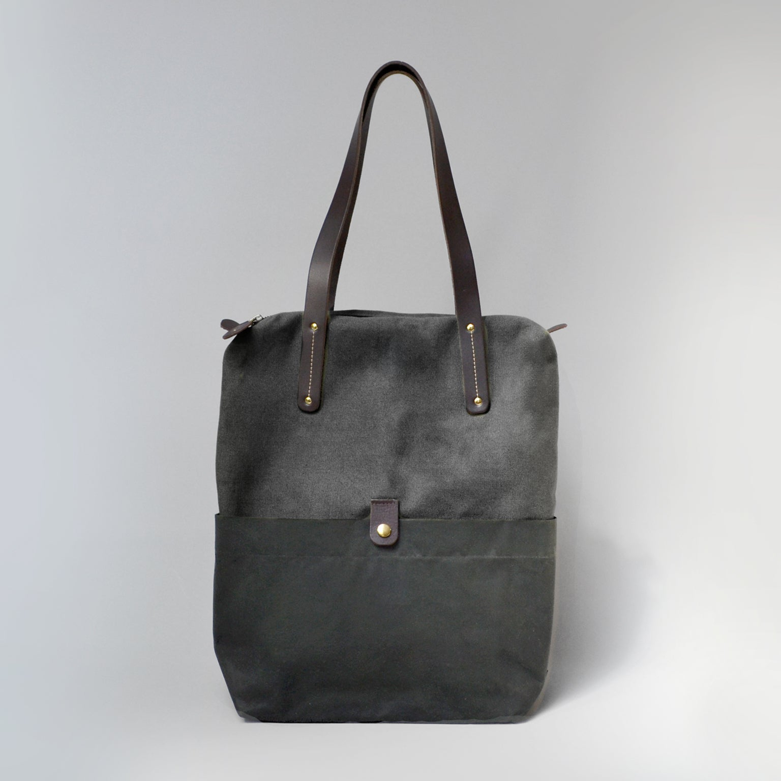 ELLEN  <br/> Tote Bag <br/> Black & Charcoal