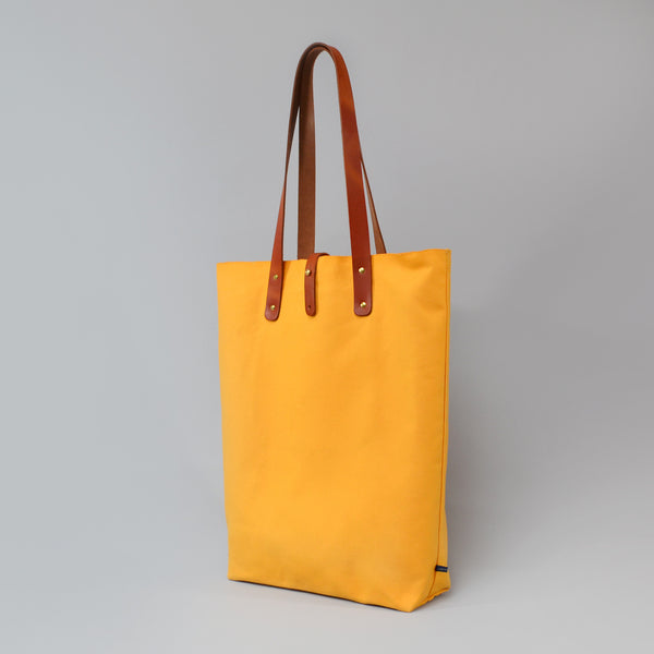 EUAN  <br/> Waxed Canvas Tote Bag <br/> Yellow