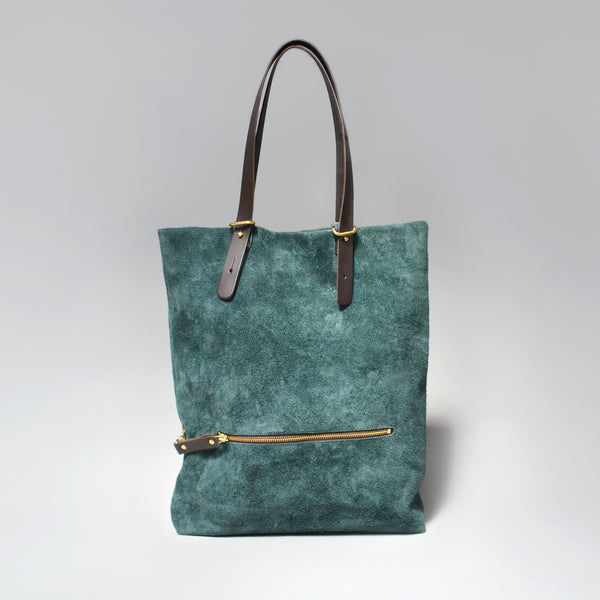 HELENA <br/> Suede Tote Bag <br/> Forest Green