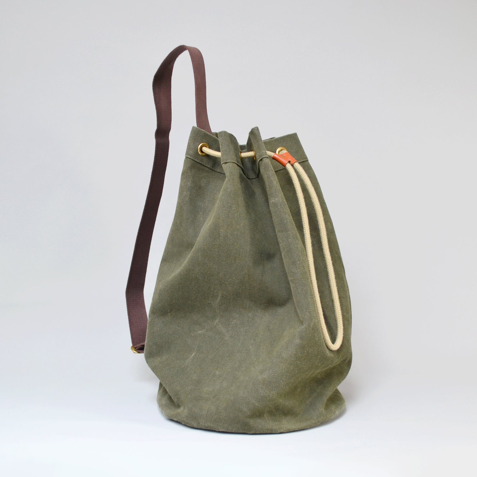LOGAN  <br/> Canvas Satchel <br> Olive