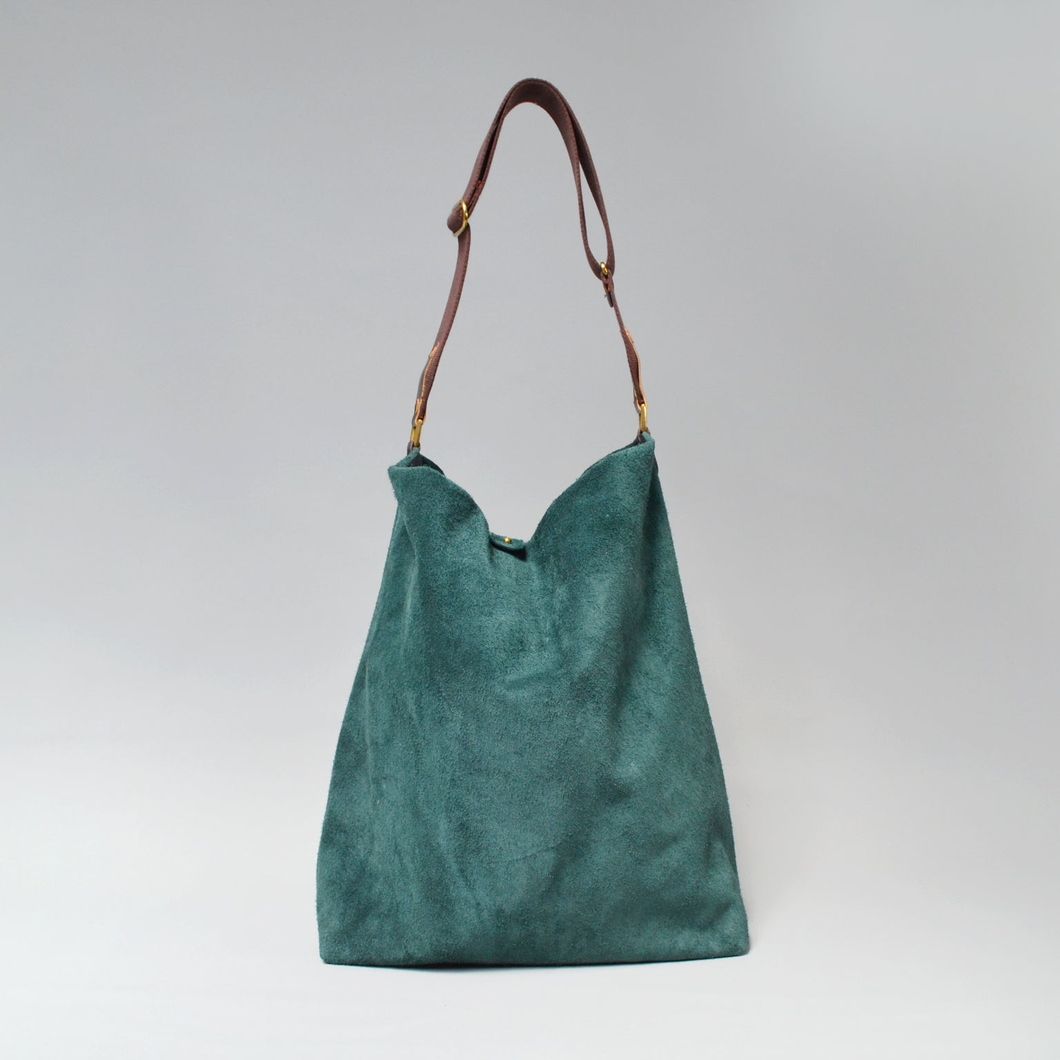 NOVA Suede Tote Bag <br> Forest Green