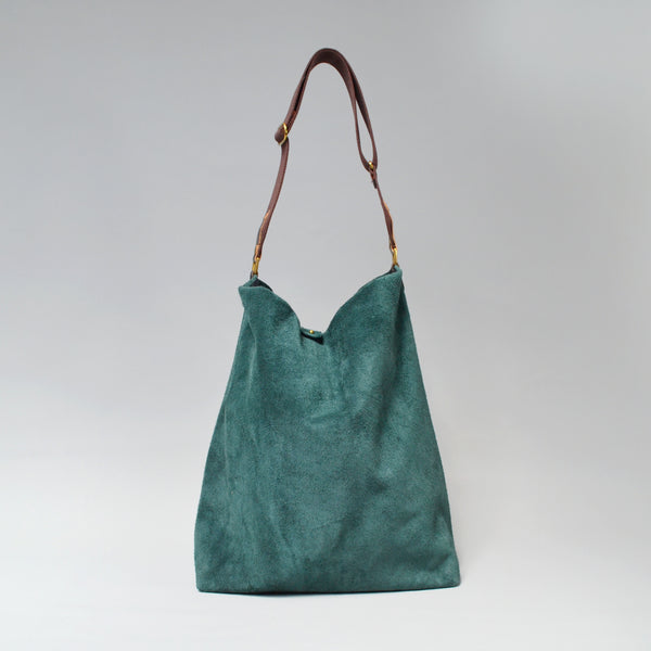 NOVA <br/> Suede Tote Bag <br> Forest Green