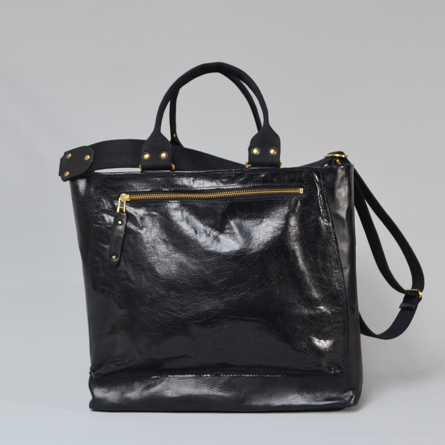 SOFIA <br/> Distressed Leather Shoulder Bag <br/> Black